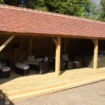 Roofed Leisure room with decking